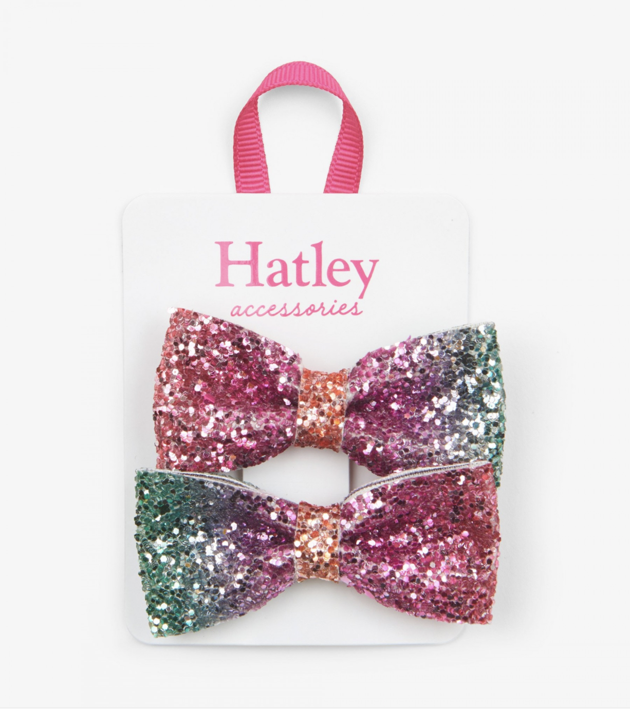 Hatley Prismatic Bows Glitter Hair Clips