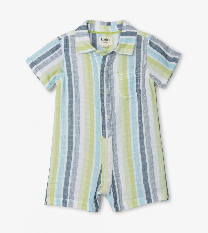 Hatley Seaside Stripe Baby Woven Romper