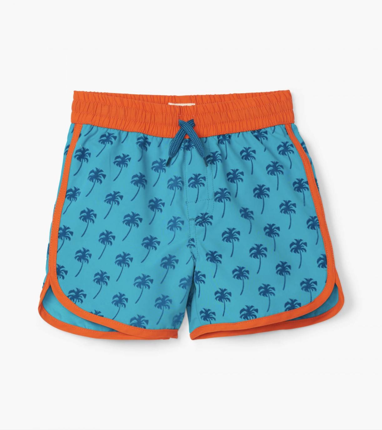 Hatley Tropical Palms Swim Shorts Baltic Blue