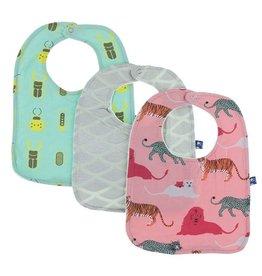 Kickee Pants Bib Set (Glass Beetles/Mermaid Scales/Strawberry Cats)