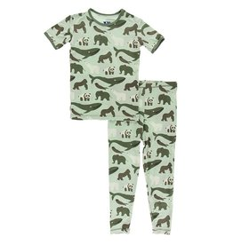 Kickee Pants SS PJ Set Aloe Endangered Animals