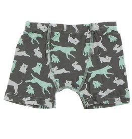 Kickee Pants Boxer Brief Stone Domestic Animals