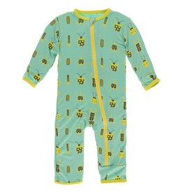 Kickee Pants Coverall w/ Zipper Glass Beetles