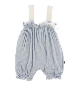 Kickee Pants Gathered Romper w/ Bow Dew Dandelion Seeds