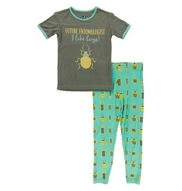 Kickee Pants SS PJ Set Glass Beetles