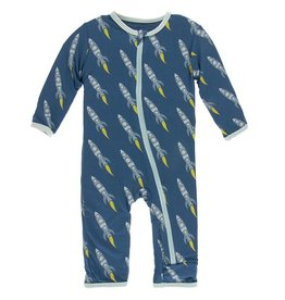 Kickee Pants Coverall w/ Zipper Twilight Rockets