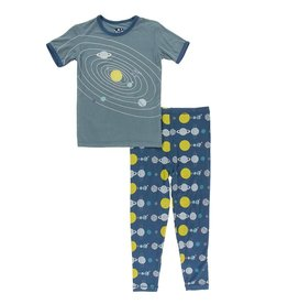 Kickee Pants SS PJ Set Twilight Planets
