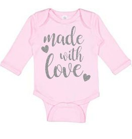 Sweet Wink Made with Love LS Bodysuit Pink