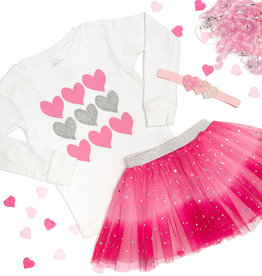 Sweet Wink Pink Ombre Heart Tutu