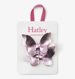 Hatley Pink Shimmer Bowterflies Hair Clips