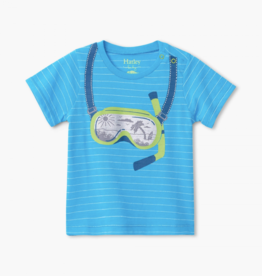Hatley Tropical Snorkel Graphic Tee Blue Atoll