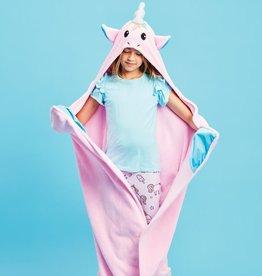 iscream Unicorn Hooded Plush Blanket