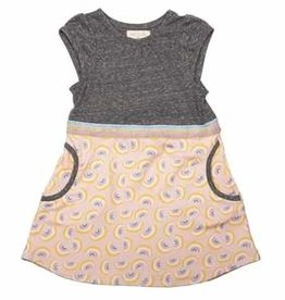 Miki Miette Pink Rainbow Print Aya Dress