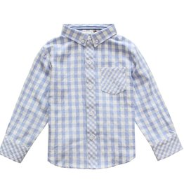 Fore!! Axel & Hudson LS Light Blue Gingham Shirt