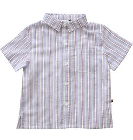 Fore!! Axel & Hudson SS Striped Button Down Shirt Blue