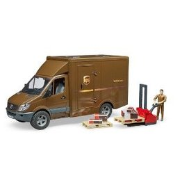 Bruder MB UPS Sprinter Truck w Driver & Accessories