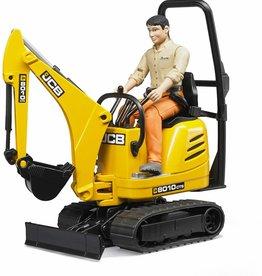 Bruder JCB Micro Excavator 8010 & Construction Worker