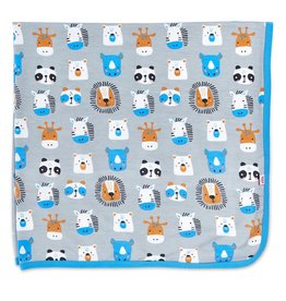 Magnificent Baby Animal House Modal Swaddle Blanket