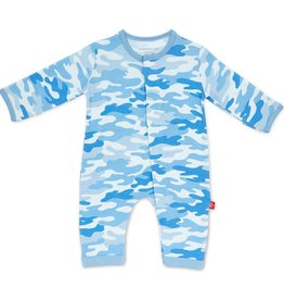 Magnificent Baby Blue Camo Chic Modal Magnetic Coverall