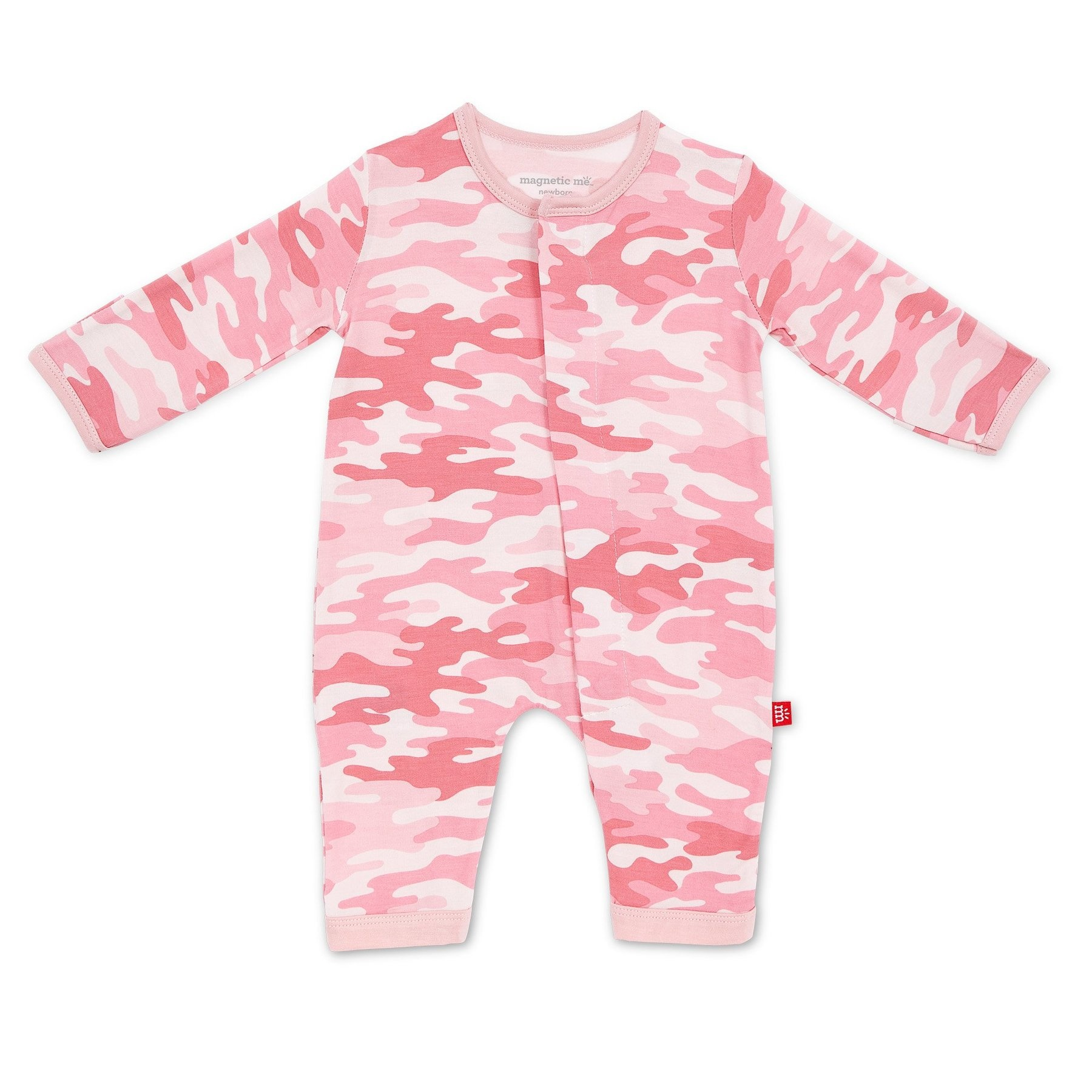 Magnificent Baby Pink Camo Chic Modal Magnetic Coverall
