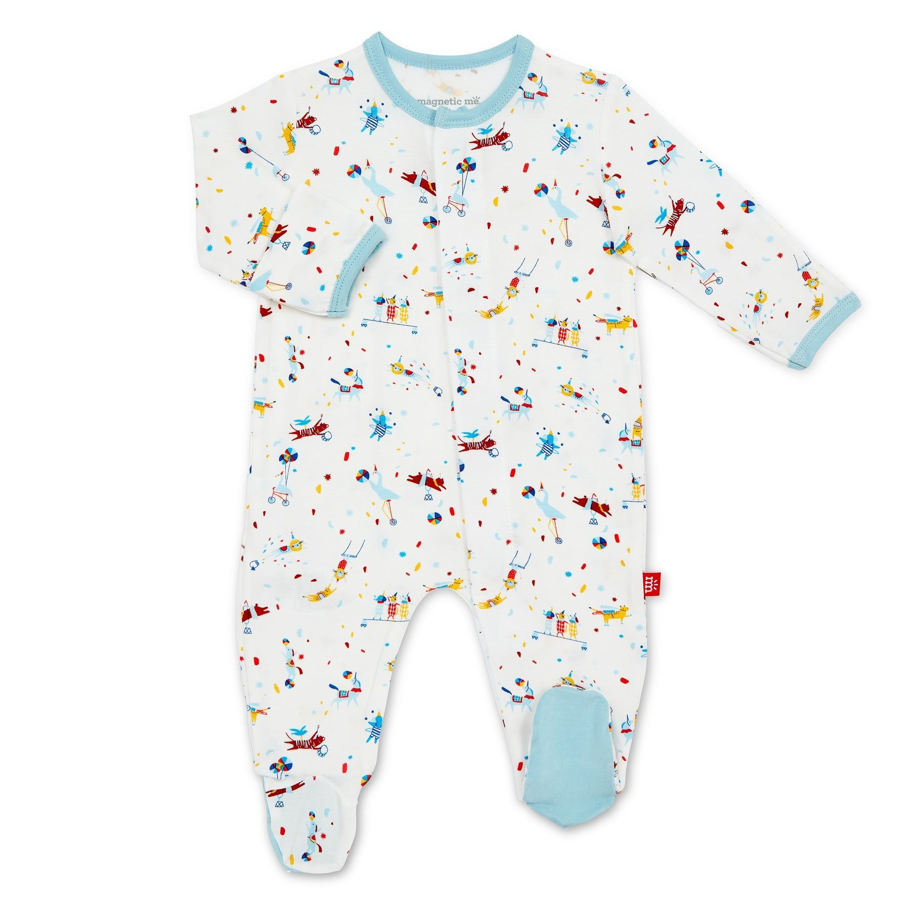 Magnificent Baby Blue Carnivale Modal Magnetic Footie