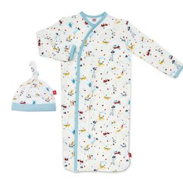 Magnificent Baby Blue Carnivale Modal Magnetic Sack Set, NB/3M