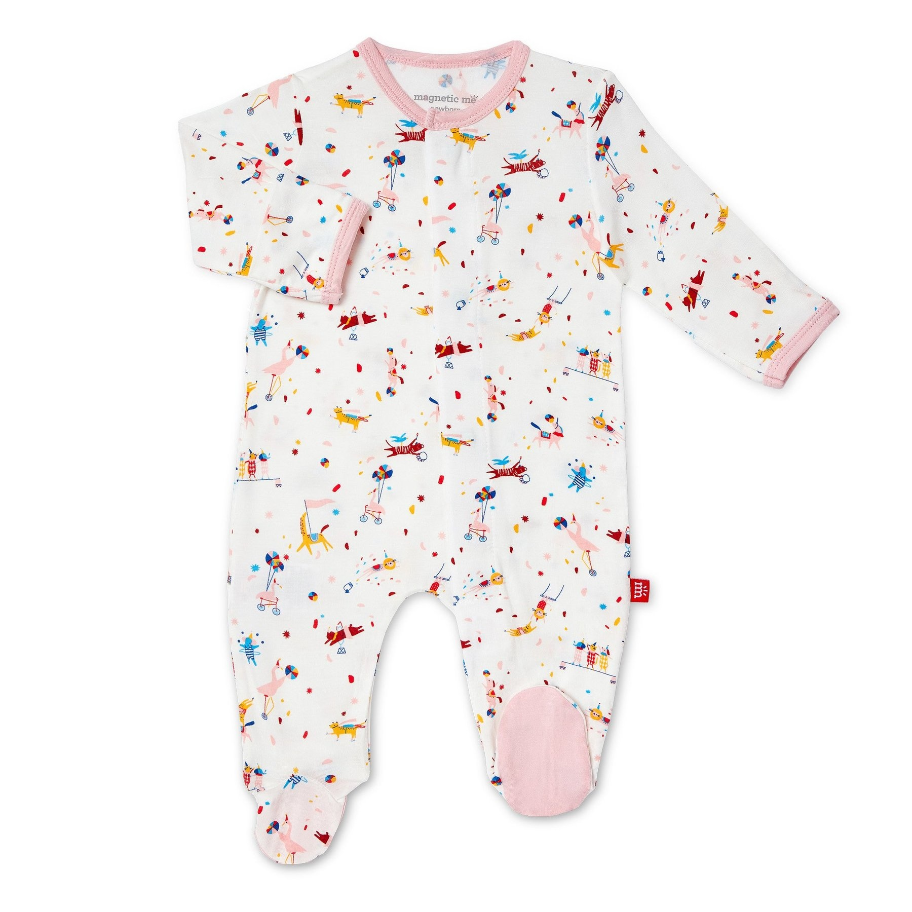 Magnificent Baby Pink Carnivale Modal Magnetic Footie