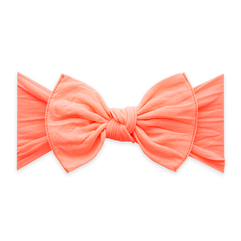 Baby Bling Knot Headband Neon Coral