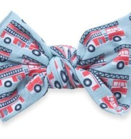 Baby Bling Printed Knot Headband Firetrucks
