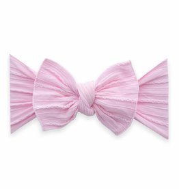 Baby Bling Cable Knit Knot Pink