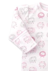 Kissy Kissy Shabby Sheep Footie Pink Hearts