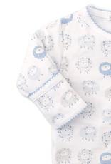 Kissy Kissy Shabby Sheep Footie Light Blue Stars
