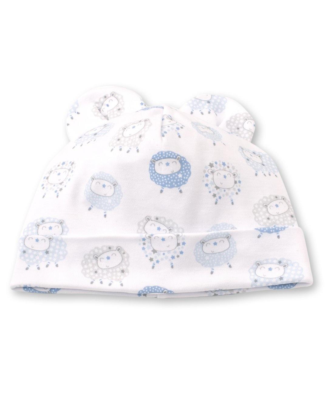 Kissy Kissy Shabby Sheep Hat Light Blue Stars, Small (0/3)