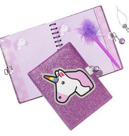 Three Cheers for Girls! Unicorn Glitter Locking Journal