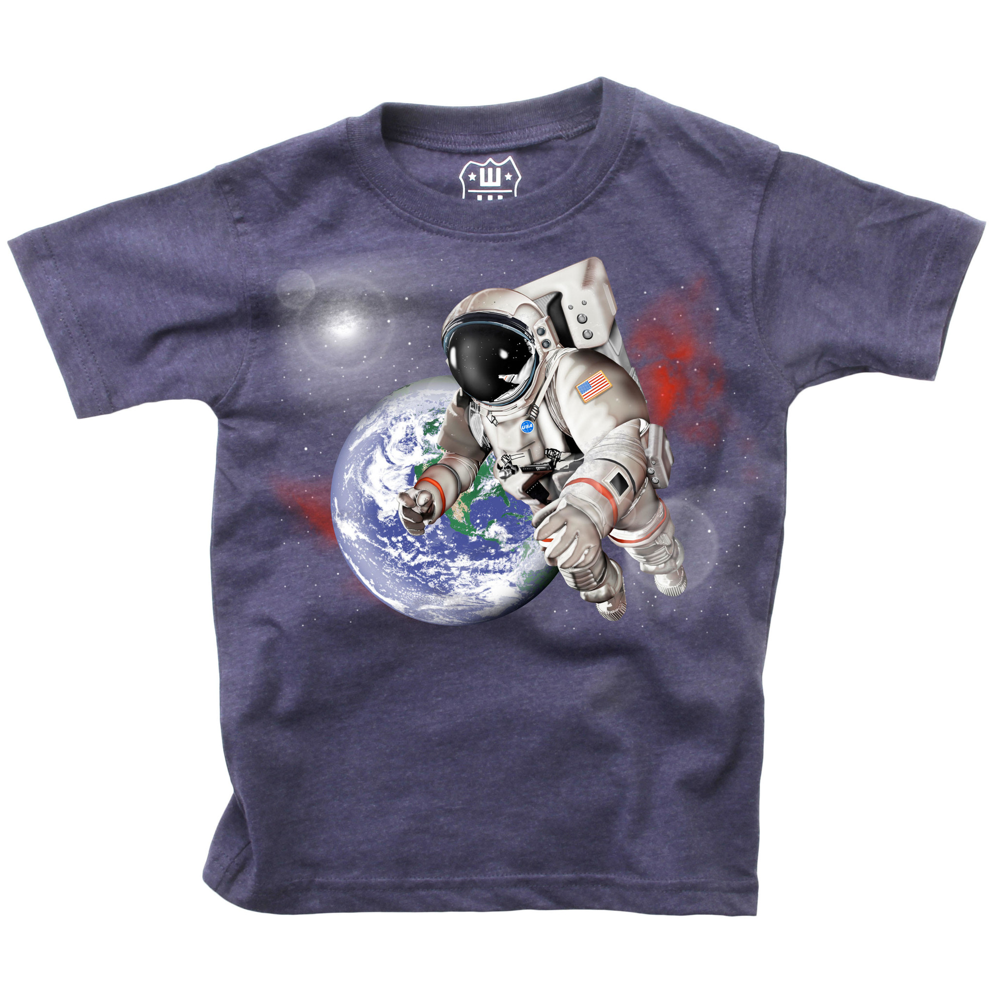 Wes And Willy Astronaut SS Tee Midnight Blend