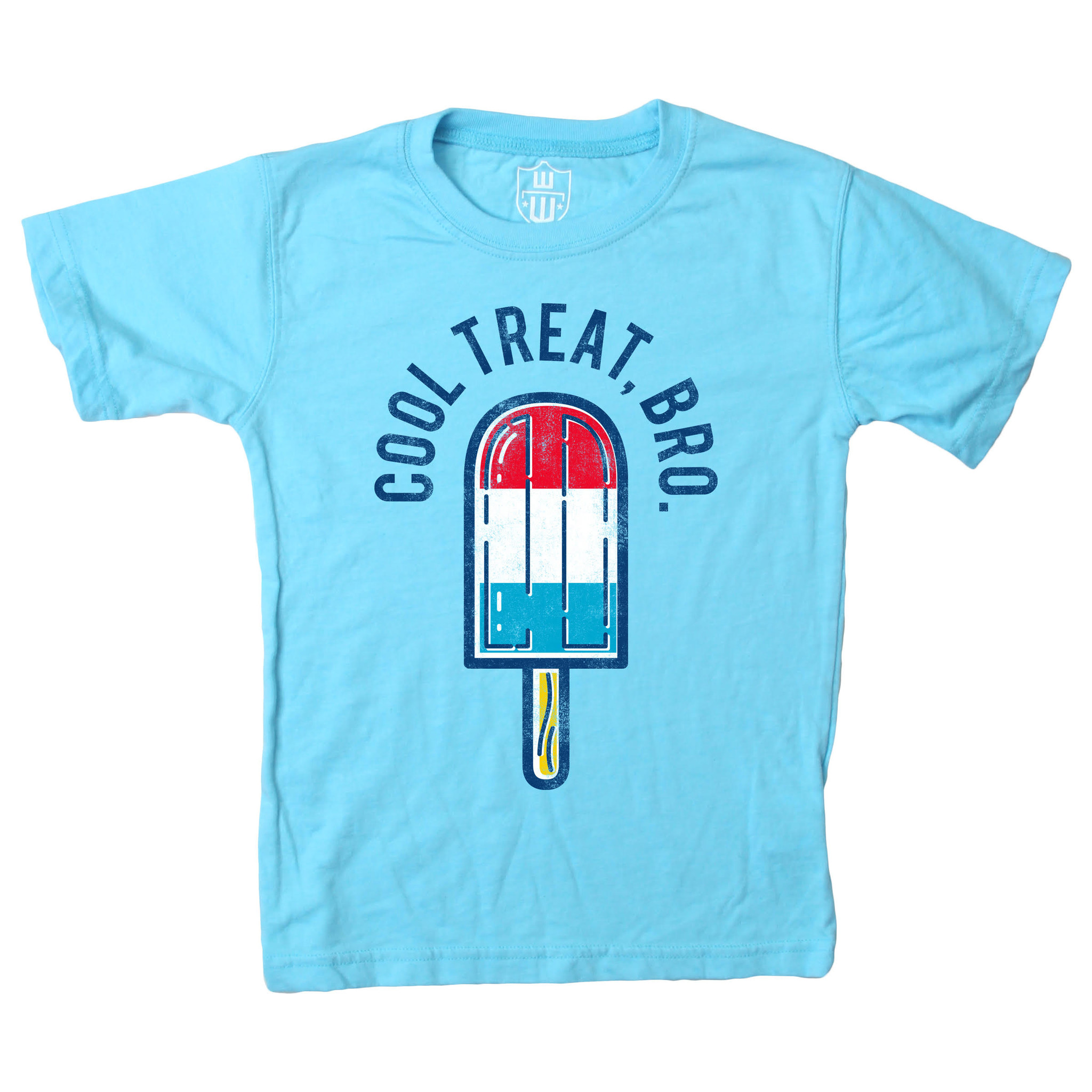 Wes And Willy Cool Treat Bro SS Tee VU Blue Blend