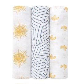 Aden & Anais Golden Sun 3-Pack Silky Soft Bamboo Swaddles