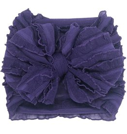 In Awe Couture Ruffle Headband Grape Mini