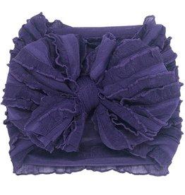 In Awe Couture Ruffle Headband Grape Mini