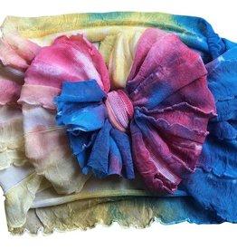 In Awe Couture Ruffle Headband Watercolor Tie Dye