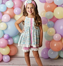 Serendipity Cotton Candy Tunic w/ Dot Shortie
