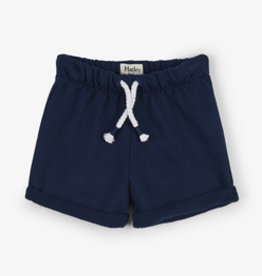 Hatley Navy French Terry Baby Shorts