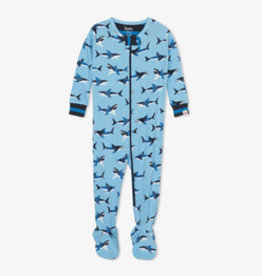 Hatley Great White Sharks Organic Cotton Footie