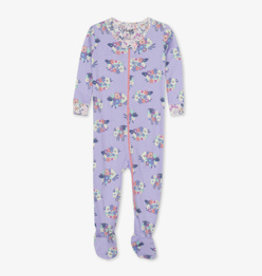 Hatley Counting Sheep Organic Cotton Footie Lilac