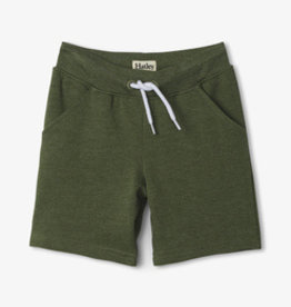Hatley Moss Melange Terry Shorts Neutral Green