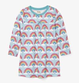 Hatley Magical Rainbows Long Sleeve Nightdress Aqua Splash