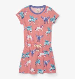 Hatley Mystical Unicorns Front Pocket Drop Waist Dress
