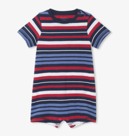 Hatley Nautical Stripe Baby Romper Peacoat