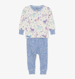 Hatley Playful Ponies Organic Cotton Pajama Set