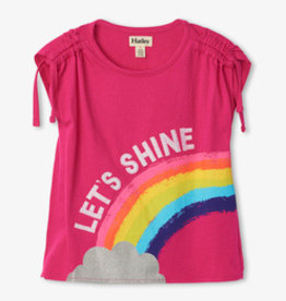 Hatley Rainbow Shine Cinched Shoulder Tee Pink